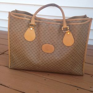 Authentic Gucci Monogrammed Large Tote.
